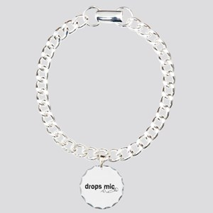 Drops Mic Comedy Charm Bracelet, One Charm