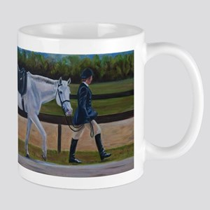 Grey Dressage Pony Mugs