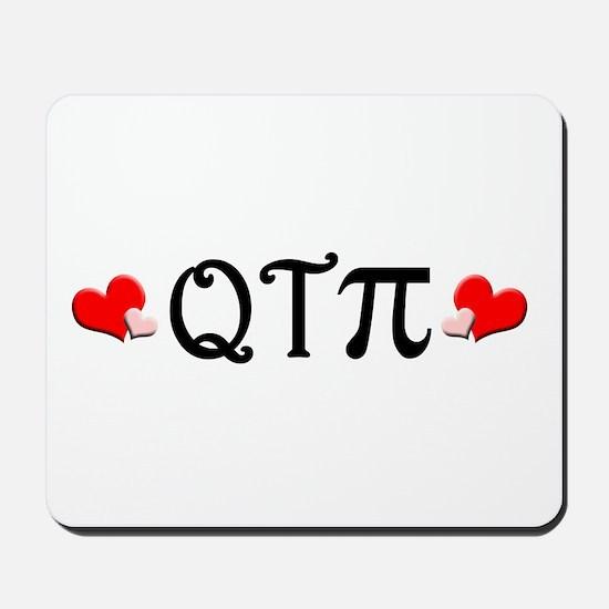 Q-T-Pi (Hearts) Mousepad