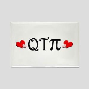 Q-T-Pi (Hearts) Rectangle Magnet