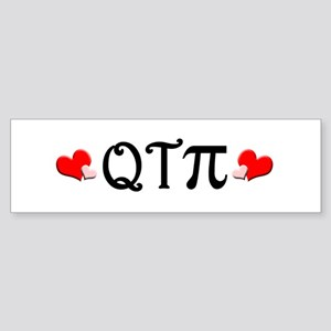 Q-T-Pi (Hearts) Bumper Sticker