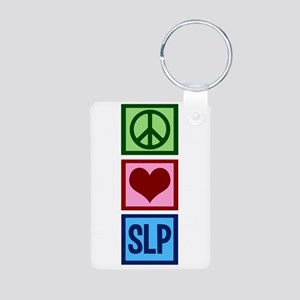 Speech Language Pathology Aluminum Photo Keychain
