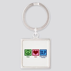 Speech Language Pathology Square Keychain