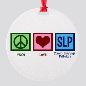 Speech Language Pathology Round Ornament
