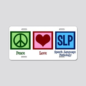 Speech Language Pathology Aluminum License Plate