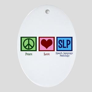Speech Language Pathology Oval Ornament