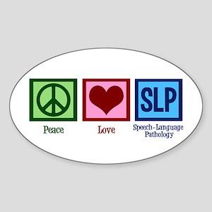 Speech Language Pathology Sticker (Oval)