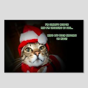Santas Helper Cat Postcards (Package of 8)