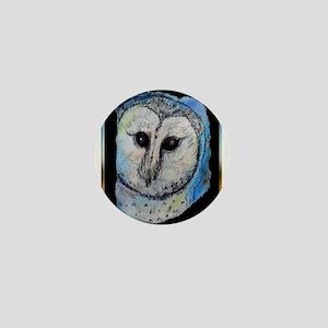 Owl, barn owl, bird art, Mini Button