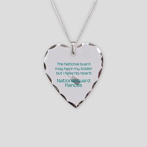 Natinoal Guard Fiancee Heart Necklace