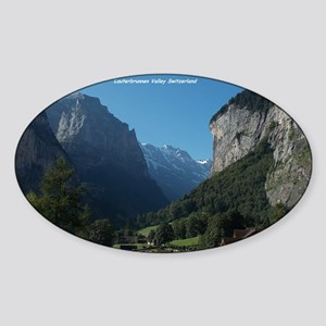 Lauterbrunnen Valley, Switzerland Sticker (Oval)