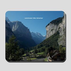 Lauterbrunnen Valley, Switzerland Mousepad