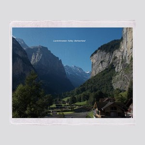 Lauterbrunnen Valley, Switzerland Throw Blanket