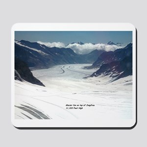 Glacier on top of Jungfrau, Switzerland Mousepad