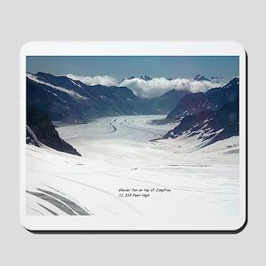 Glacier on top of Jungfrau, Switzerland Mousepad