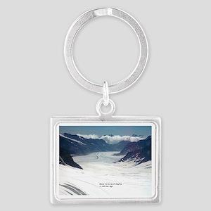 Glacier on top of Jungfrau, Swi Landscape Keychain