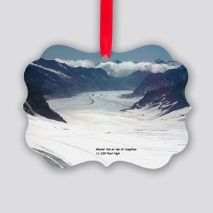Glacier on top of Jungfrau, Switz Picture Ornament
