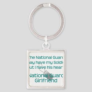 National Guard Girlfriend Heart Keychains