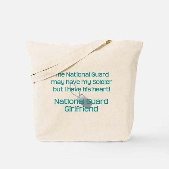 National Guard Girlfriend Heart Tote Bag