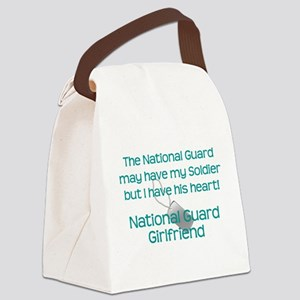 National Guard Girlfriend Heart Canvas Lunch Bag