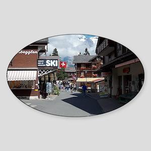 Murren, Switzerland Sticker (Oval)