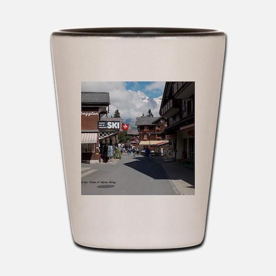 Murren, Switzerland Shot Glass