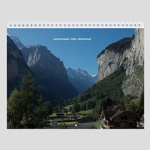 Lauterbrunnen Valley, Switzerland Wall Calendar