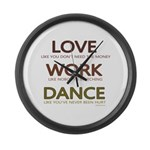 Love like you dont need the money Large Wall Clock