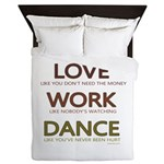 Love like you dont need the money Queen Duvet