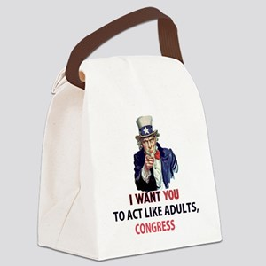 Uncle Sam: I Want You to Act Like Canvas Lunch Bag