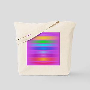 Horizontal Stripes Purple Tote Bag