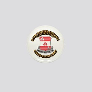 Army - 815th Engineer Bn with Text Mini Button