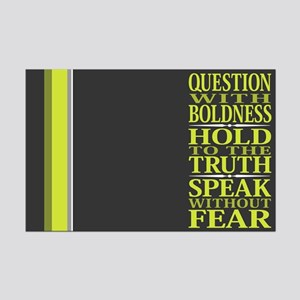 Question With Boldness Mini Poster Print