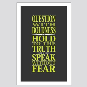 Question With Boldness Large Poster