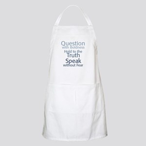Question Speak Truth Apron