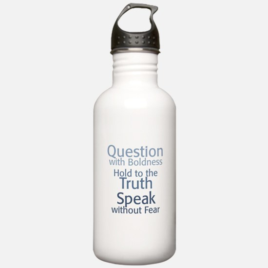 Question Speak Truth Water Bottle