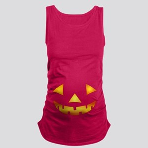 Jack-o-lantern Pumpkin Maternity Tank Top
