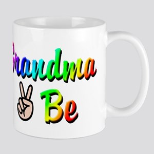 Peace Grandma To Be Mug