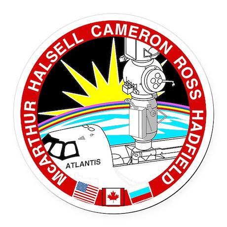 STS-74 Atlantis Round Car Magnet