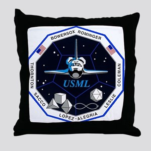 STS-73 Columbia Throw Pillow