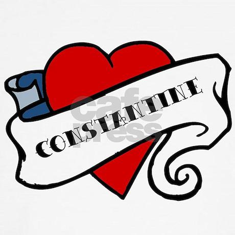 Constantine Tattoo Baseball Tee Constantine Tattoo Baseball Jersey