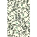 Fifty dollar bill money print Wall Decals