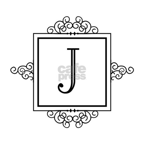 Fancy letter J monogram License Plate Frame by Admin_CP49789583