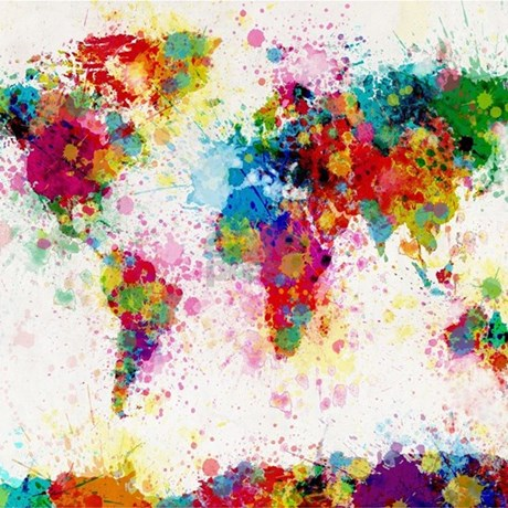 World map paint splashes queen duvet by listing store 21786311 world map paint splashes queen duvet world map paint gumiabroncs Images