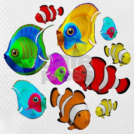 Tropical Fishes Pattern Baseball Baseball Cap by Bluedarkartgifts 472ec835ac9f