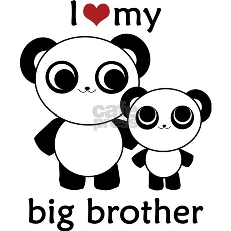 Panda I Love My Big Brother Necklace Oval Charm