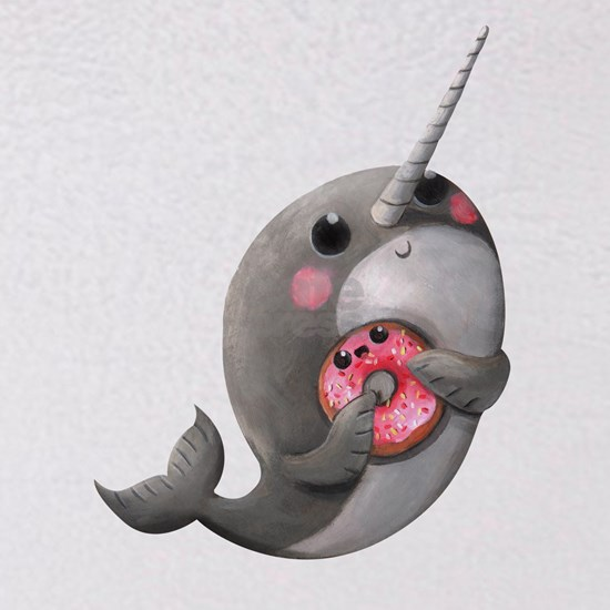 Cute Narwhal with Donut