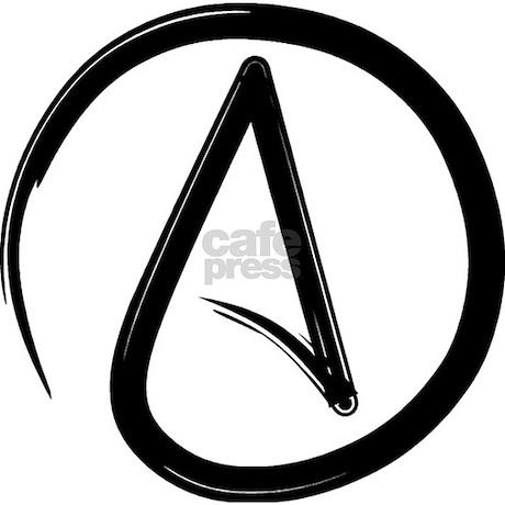 Atheist Symbol Necklace By Ohnogod