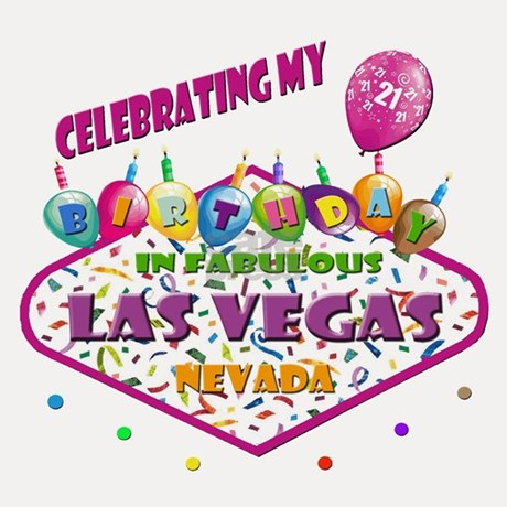 Celebrating 21st Birthday In Las Vegas Shot Glass