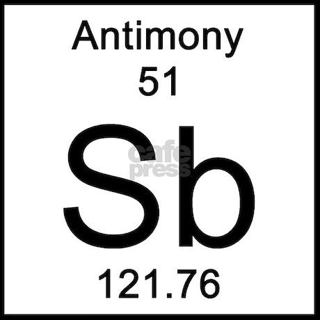 periodic table antimony tile coaster favorite